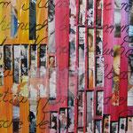 """Augenblicke""  -  Mixed Media. Papier 50 x 70 cm"