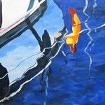 """""""Leinenlos"""" - Acryl auf Leinwand, 110 x 80 cm"""