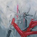 """""""Zwischenstopp""""  -  Acryl auf Leinwand, 80 x 80 cm"""
