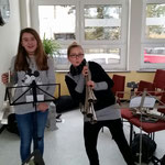 Nachwuchsgesamtprobe ::: 20.02.2016 ::: Hanna und Lena - immer aktiv und mit Freude dabei