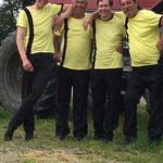 "Raasdorf, Sommerfest ::: die Jungs: Tobias, Wolfram alias ""I"", Patrick alias ""Pu"" und Lutz"