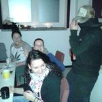 Jahresausklang SMZ Auma  :::  18.12.2015  :::  Anika, Laura, Charlene und Mr. X