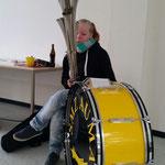 Nachwuchsgesamtprobe 23.01.2016  :::  Julia stellt wieder ihr Multitasking-Talent unter Beweis
