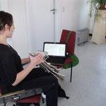 Registerprobe Sopran ::: Franzi mit elektronischer Unterstützung