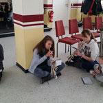 Nachwuchsgesamtprobe 23.01.2016  :::  immer schön auf dem Boden bleiben: Felix, Hanna, Vanessa und Jenny