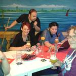 Weihnachtsfeier SMZ AUMA 12.12.2015  :::  letz fetz mit Cocktails - Steffi, Ina und Claudia