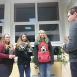 """10.02.2017 ::: Urkunden für Lisa, Hanna und Lena, überreicht von unserem """"Pu"""""""