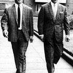 Reggie Kray (à gauche) et Ronnie Kray.