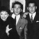 Les frères Kray en compagnie de Judy Garland, à l'époque de leur gloire.