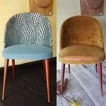 Petit fauteuils vintage année 70  retrouvé la jeunesse
