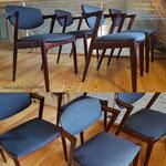 Chaises danoises, modèle 42 par Kay Kristansen, Bordeaux