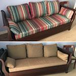Réfection des housses de coussins d'un canapé