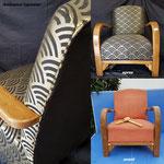 Restauration de fauteuil Studio, année 30, Art DECO