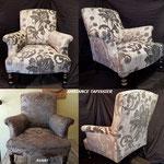 Restauration complète à l'ancienne pour ce fauteuil de style Anglais