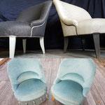 Deux fauteuils Crapauds