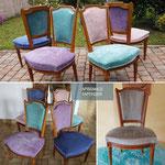 Intérieur chic, vintage, contemporain? En changant le tissus peaufinez une décoration moderne avec des chaises anciens.