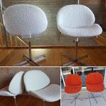 Deux fauteuils inspiration PAULIN