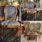 Six chaises avant-après