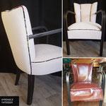 Jolies finitions pour ce fauteuil Art DECO complètement transformé