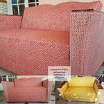 Canapé Art DECO restaure et relooké par Ambiance Tapissier