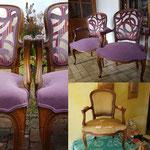 Deux fauteuil cabriolets Louis XV