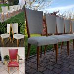 Suite de six chaises années 70