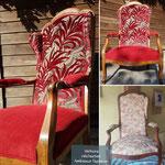 La nouvelle vie pour ce fauteuil VOLTAIRE avec des couleurs vives