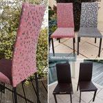 Chaise moderne retrouve la deuxième jeunesse grâce à nouveau tissu