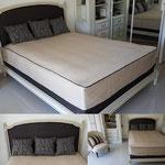 Création de couvre lit et des coussins décoratives, réfection de tête de lit et de fauteuil Crapaud
