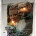Hochzeitsgeschenk mit Foto des Brautpaares