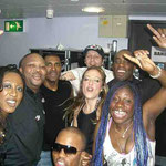 Backstage with Beverley Knight and band