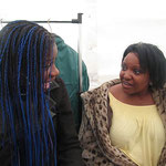 Pre-show rehearsal with Angie Brown