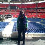 Soundcheck at Wembley Stadium for Concert for Diana