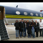 Private jet with Mr Ferry