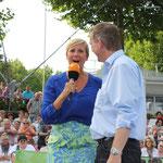 Andrea Kiwel im Gespräch mit Michael Hofmann, ZDF Fernsehgarten