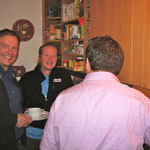 Michael Hofmann, Joey Kelley und Frank Füglein bei Joey in der Küche