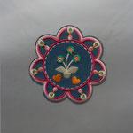 Milward Applikation zum Aufbügeln, Blume Durchmesser 9cm