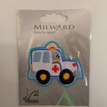Milward Applikation zum Aufbügeln, Rettungsauto Länge 6cm