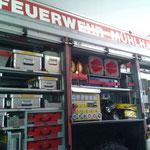 Die Ausstattung eines Feuerwehrfahrzeuges