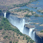 Victoria Falls vanuit helicopter (foto: Ronny Wuyts)