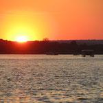 Zonsondergang op de Zambezi