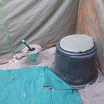 Het ecologisch bush-toilet (met zandspoeling)