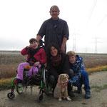 Die Familie Weber mit ihrer Lara