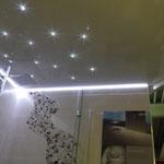 Lichtkanal und Sternenhimmel