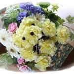 お花畑のベア  アートフラワー
