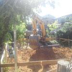 掘方。 なんだかすごい迫力。恐竜みたい(笑)