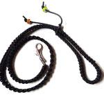 80 cm lange schwarze Leine
