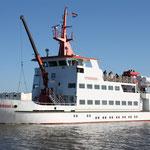 Fähre vom Hafen Neuharlingersiel zur Insel Spiekeroog
