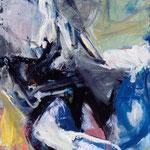 Winterspur, 2004, Ölfarbe , 115 x 89 cm