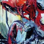 Rote Wolke, 2007, Ölfarbe,  95 x 72 cm
